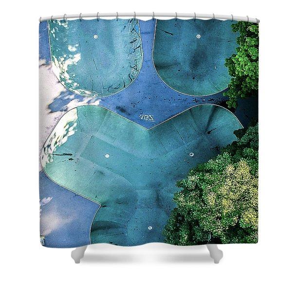 Skatepark - Aerial Photography Shower Curtain