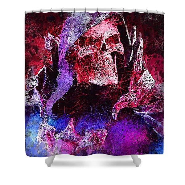 Skeletor Shower Curtain