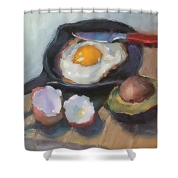 Skillet Breakfast Shower Curtain