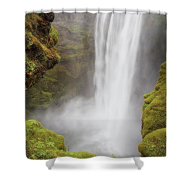 Skogafoss Iceland Shower Curtain