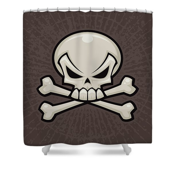 Skull And Crossbones Shower Curtain