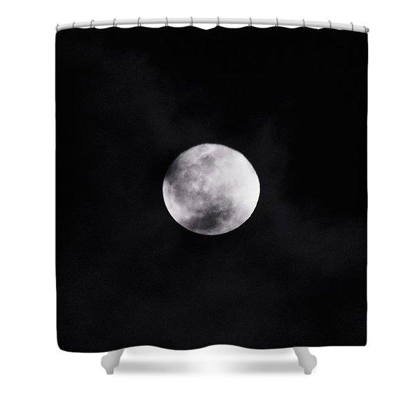 Skull Moon Shower Curtain