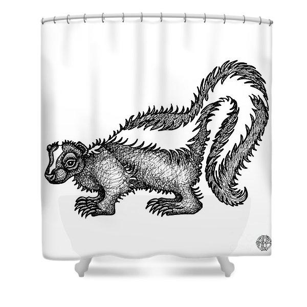 Skunk Shower Curtain