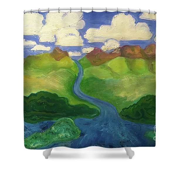 Sky River To Sea Shower Curtain