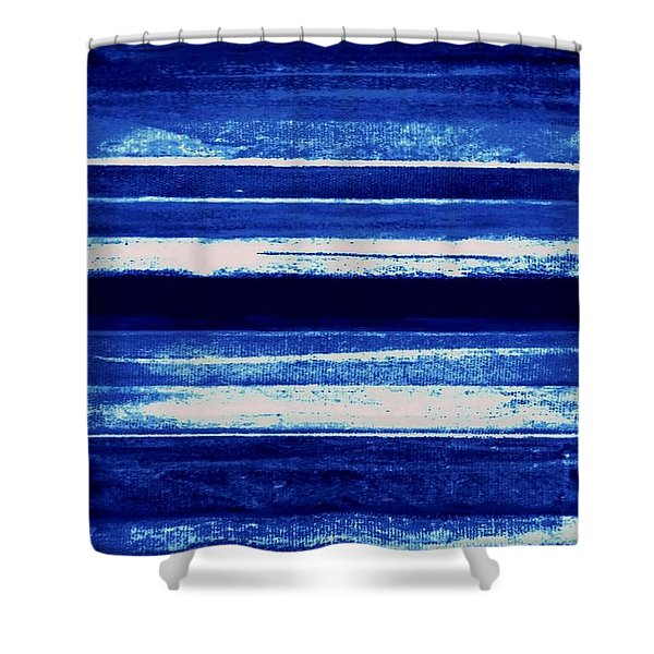 Skyscape-blue Abstract Shower Curtain