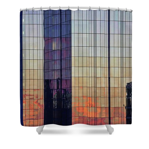 Shower Curtain featuring the photograph Skyscraper Sunset by Tom Gresham
