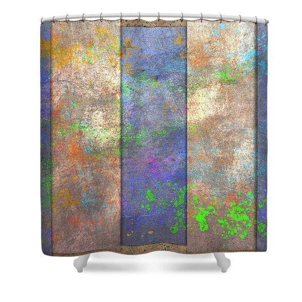 Slats And Slash Shower Curtain