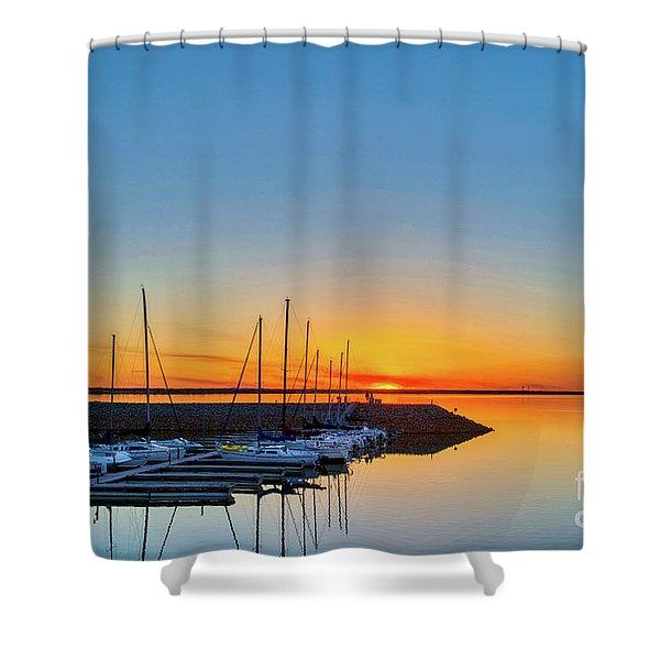 Sleeping Yachts Shower Curtain