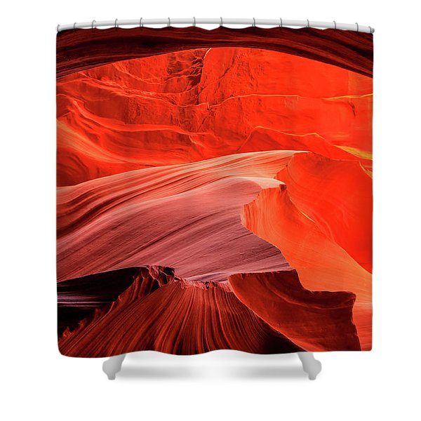 Slot Canyon Waves 1 Shower Curtain