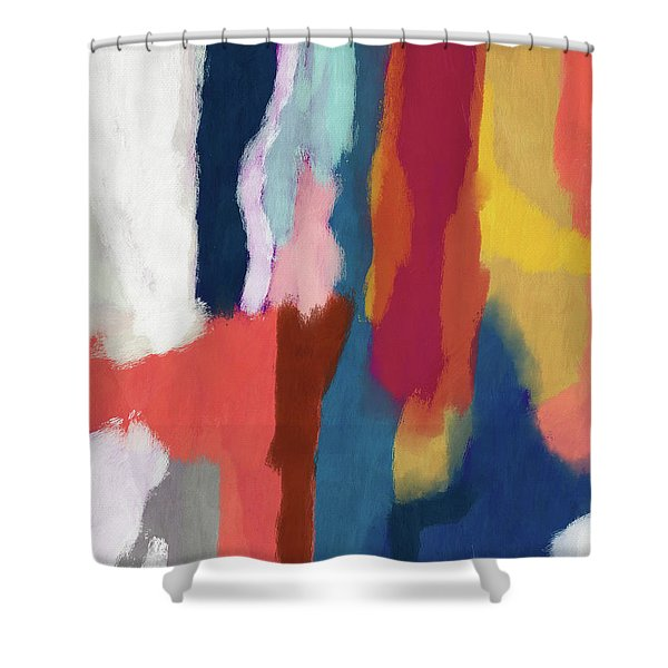 Slow Burn 2- Abstract Art By Linda Woods Shower Curtain