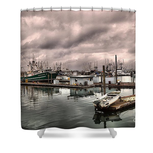 Slow Day At Ilwaco  Shower Curtain