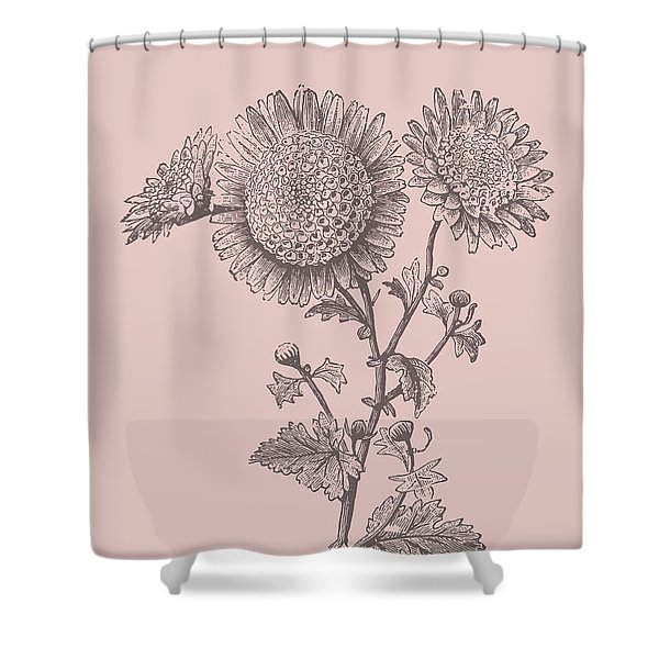Small Anemone Blush Pink Flower Shower Curtain