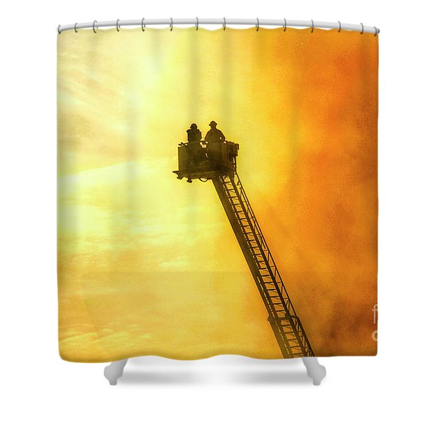 Smokey Blaze Shower Curtain