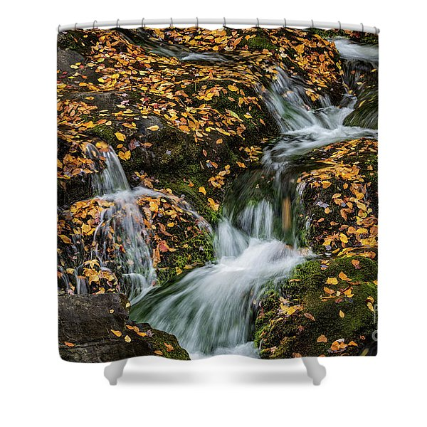 Smokey Mountain Falls Shower Curtain