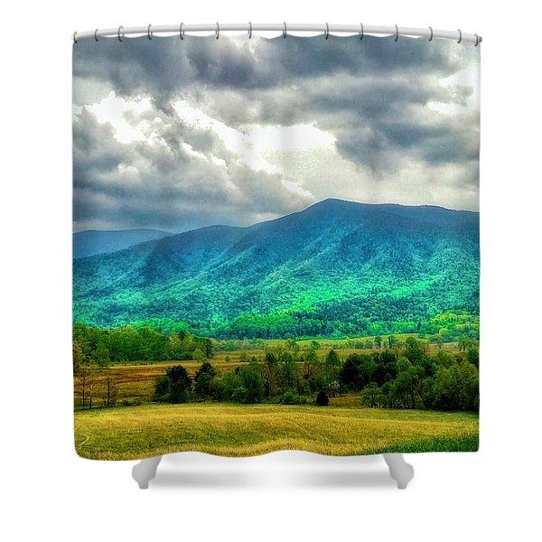 Smoky Mountain Farm Land Shower Curtain