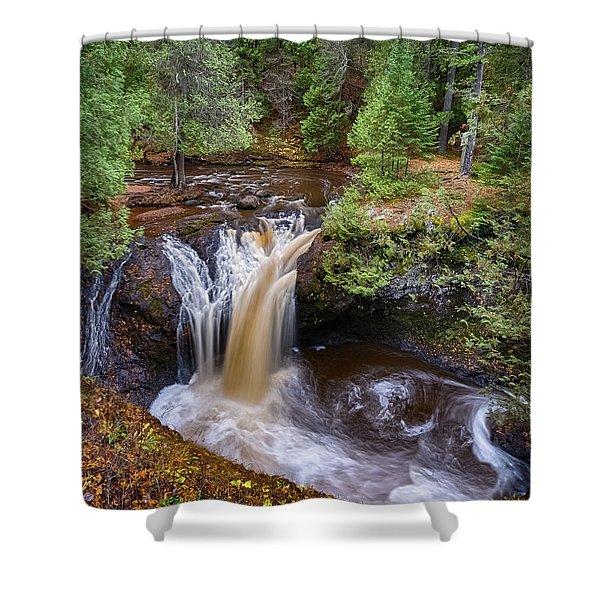 Snake Pit Falls Shower Curtain