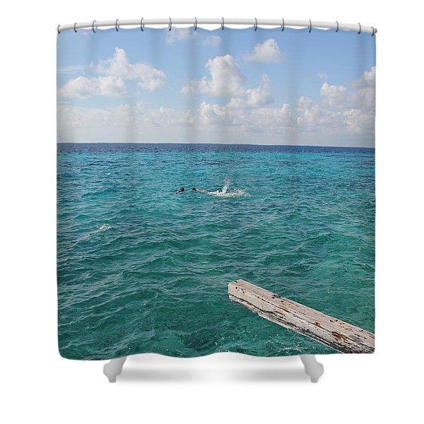 Snorkeling Shower Curtain