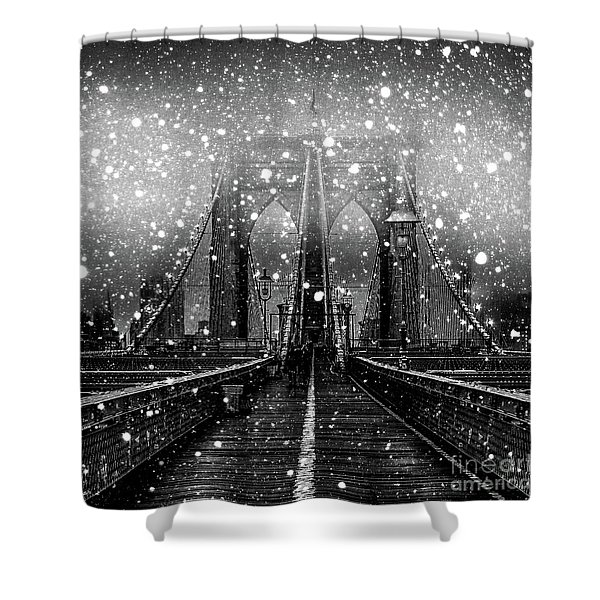 Snow Collection Set 04 Shower Curtain