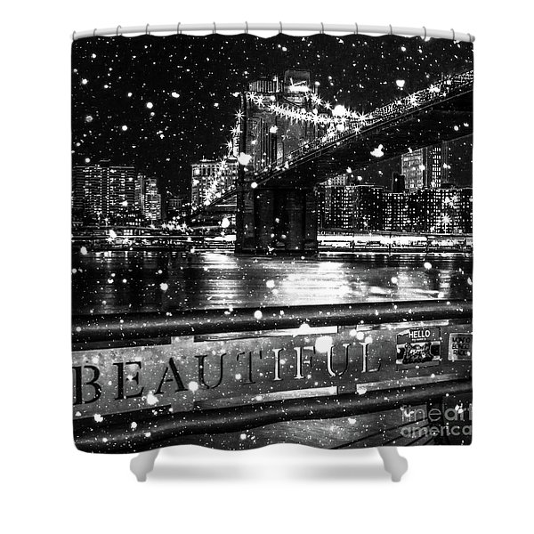 Snow Collection Set 09 Shower Curtain