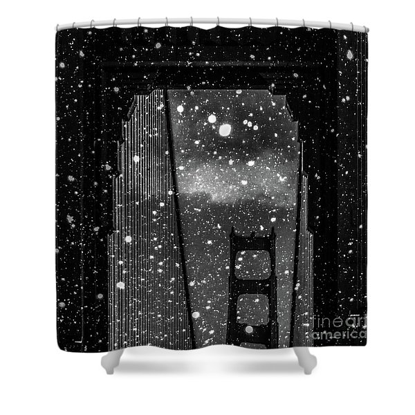 Snow Collection Set 12 Shower Curtain
