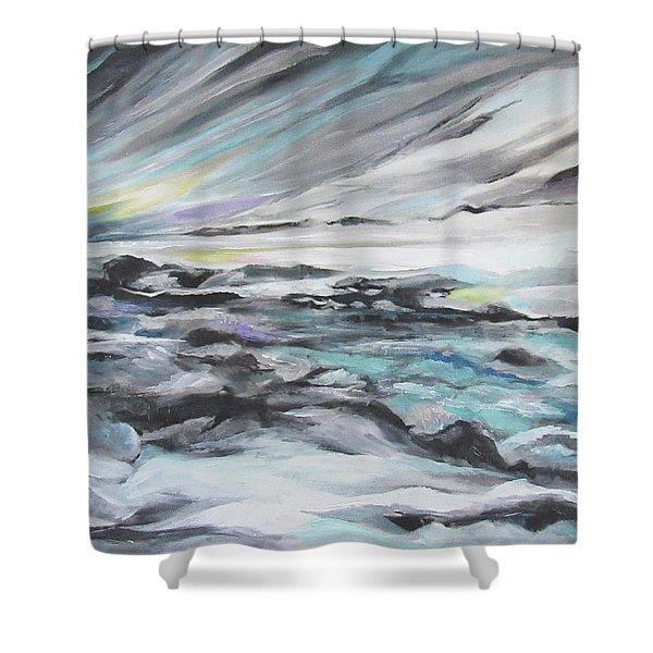 Snow Flow Shower Curtain