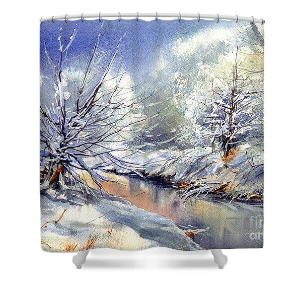 Snow Flurry Shower Curtain