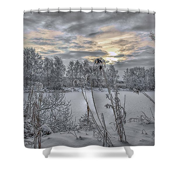 Snow #i3 Shower Curtain