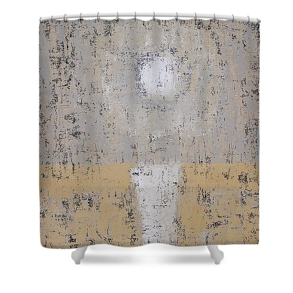Snow Moon Original Painting Shower Curtain