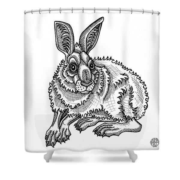 Snowshoe Hare Shower Curtain