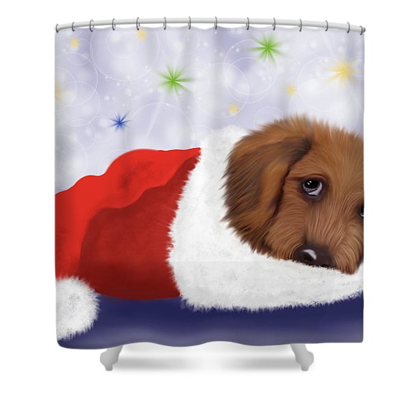 Snuggle Puppy Shower Curtain