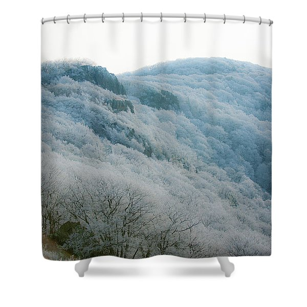 Soft Hoarfrost Shower Curtain