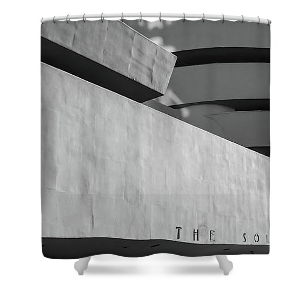 Shower Curtain featuring the photograph Solomon R Guggenheim Museum by Michael Hope