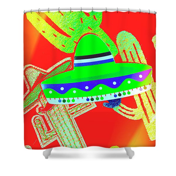 Sombrero Salsa Shower Curtain