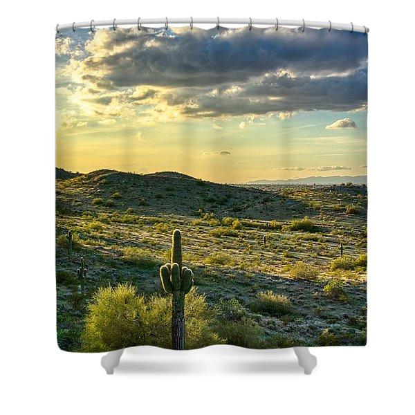 Sonoran Desert Portrait Shower Curtain