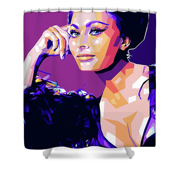 Sophia Loren Pop Art Shower Curtain