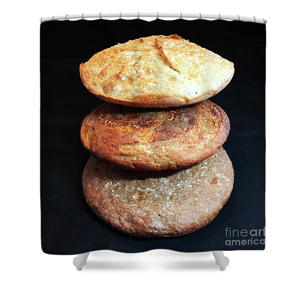 Sourdough Bread Stack 2 Shower Curtain