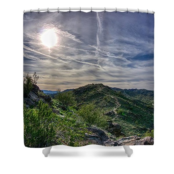 South Mountain Depth Shower Curtain