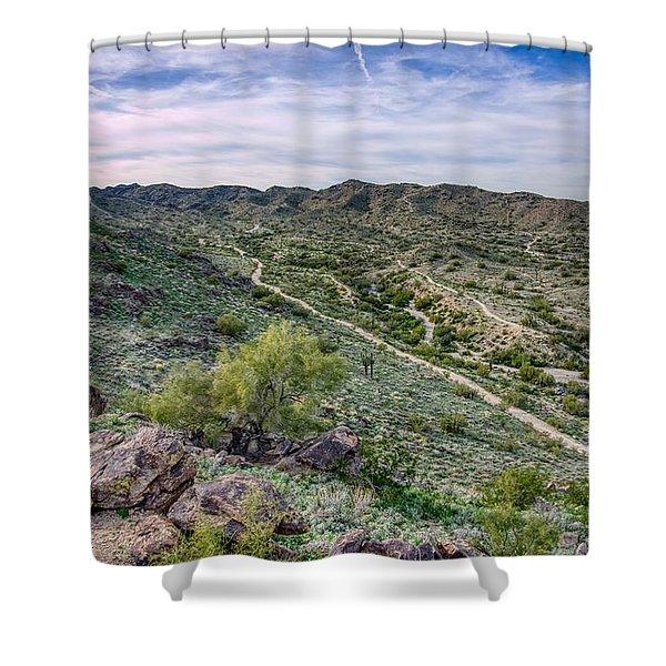 South Mountain Landscape Shower Curtain