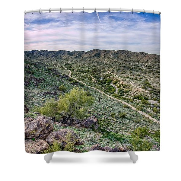 South Mountain Landscape Shower Curtain