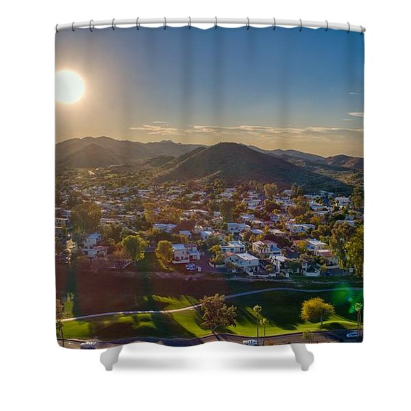 South Mountain Sunset Shower Curtain