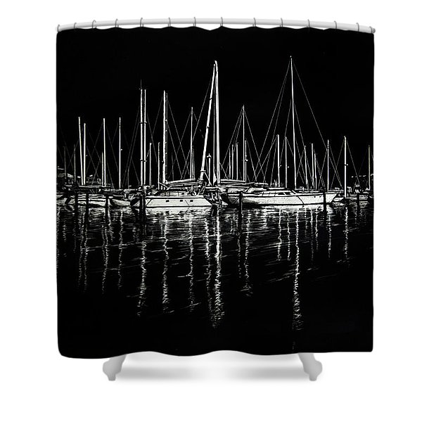 South Yacht Club Shower Curtain