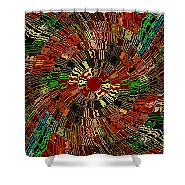 Southwestern Sun Swirl Shower Curtain