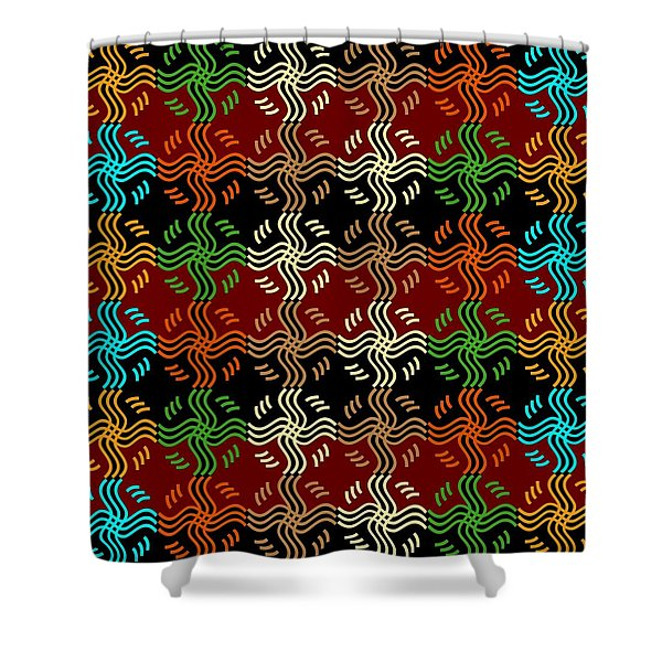Southwestern Sun Tile Shower Curtain