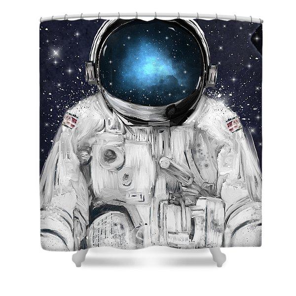 Space Adventurer  Shower Curtain