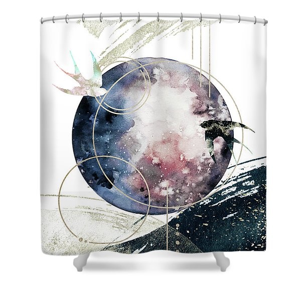 Shower Curtain featuring the digital art Space Operetta by Bee-Bee Deigner