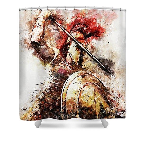 Spartan Hoplite - 54 Shower Curtain