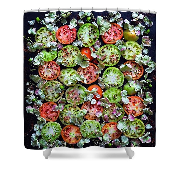 Spiced Tomatoes Shower Curtain