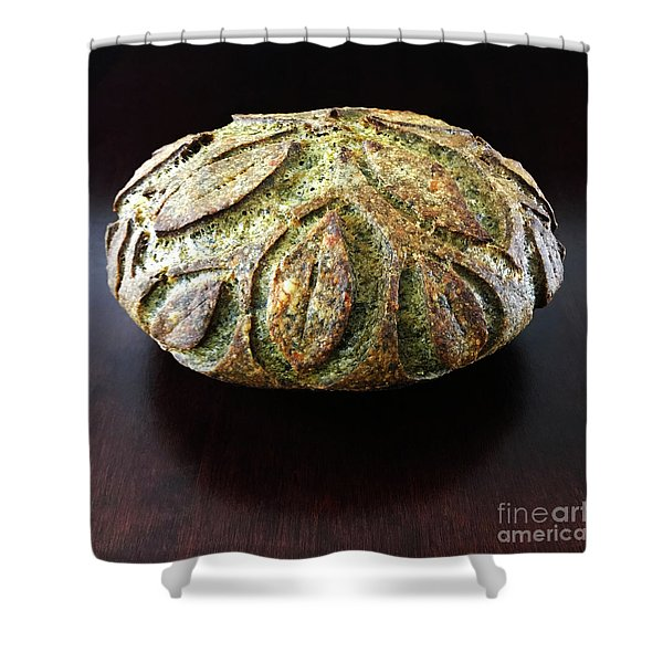 Spicy Spinach Sourdough 2 Shower Curtain