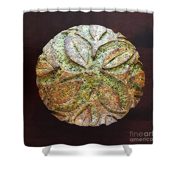 Spicy Spinach Sourdough Shower Curtain