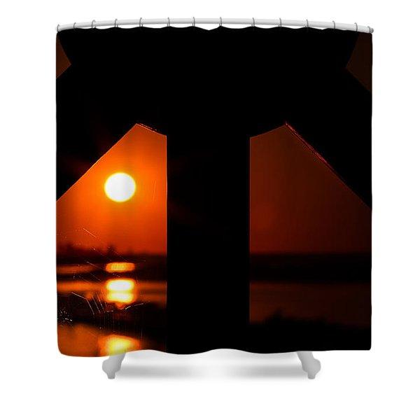Spiderweb View Shower Curtain